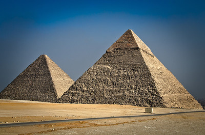 Jan. 13, 2013. The great pyramids of Giza.