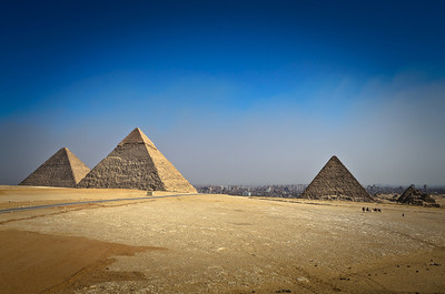 Jan. 13, 2013. The great pyramids of Giza. Notice how close the city of Cairo is and notice all of the smog above the city.