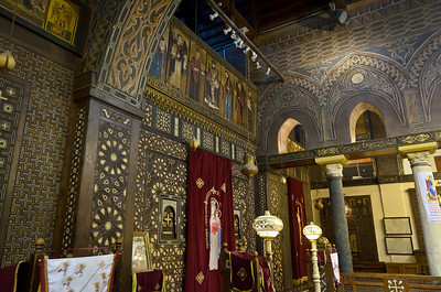 Jan. 12, 2013. A Christian church in 'coptic' Cairo.