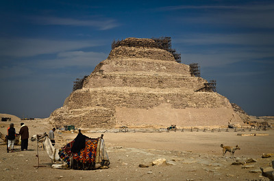 Jan. 12. 2013. Djoser step pyramid in the center of the funerary complex of Saqqara. The first ever built in Egypt and is the oldest structure in the world built entirely of stone. Built in the third dynasty by the architect/magician/philosopher/doctor Imhotep.