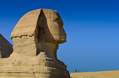 Jan. 13, 2013. The Great Sphinx of Giza with camel in background.