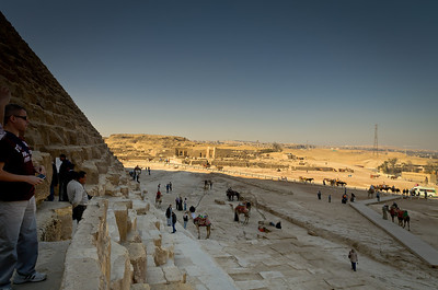 Jan. 13, 2013. Paul looks out from the shadow of the great pyramid of Giza.