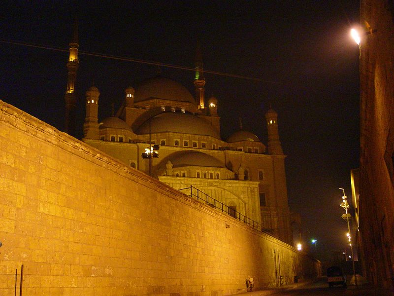 c) We visited the citadel at night. Here is a mosque