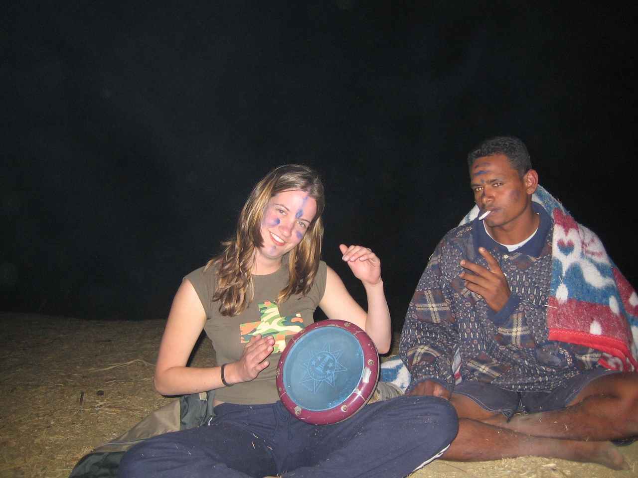 r1) Megan learns how to play the drum.