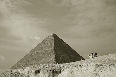 pyramid of khufu and riders