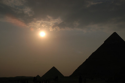 sunset at giza