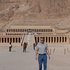 Steve in front of Hatshepsut's Mortuary Temple. Hatshepsut was the only woman to rule as pharaoh in Egypt.