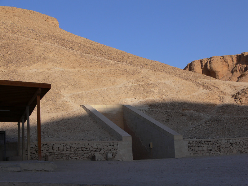 We could not take pictures inside of the tombs, so here is a picture of the outside of one.