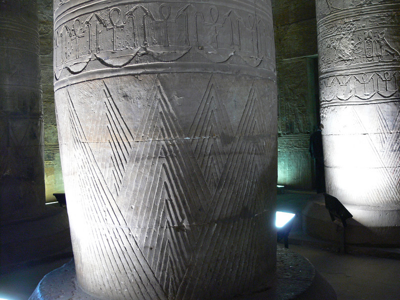 Decoration on one of the columns in the Hypostyle Hall
