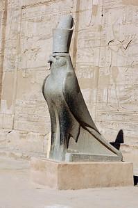 Edfu Temple Horus Statue