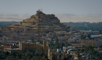 Jan. 22, 2013. View from the Mountain of the Dead overlooking the Siwa Oasis.
