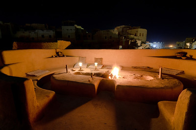 Jan. 21, 2013. Our villa we rented for a week in Siwa. This is the fire pit upstairs on the terrace which overlooks the town.
