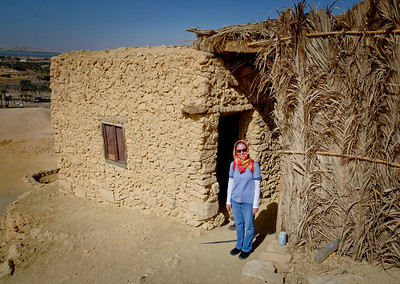 Jan. 22, 2013. Jeannette on the Mountain of the Dead overlooking the Siwa Oasis.