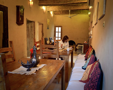 Jan. 22, 2013. The main dining hall of our villa in Siwa.