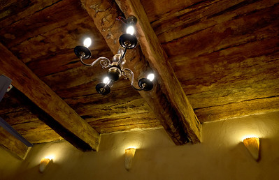 Jan. 22, 2013. Much of the materials used to build this home were true to the surrounding homes like the date palm wood as ceiling beams.
