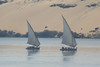 Dhow ferries on Nile River near Luxor