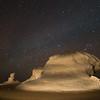White Desert by night