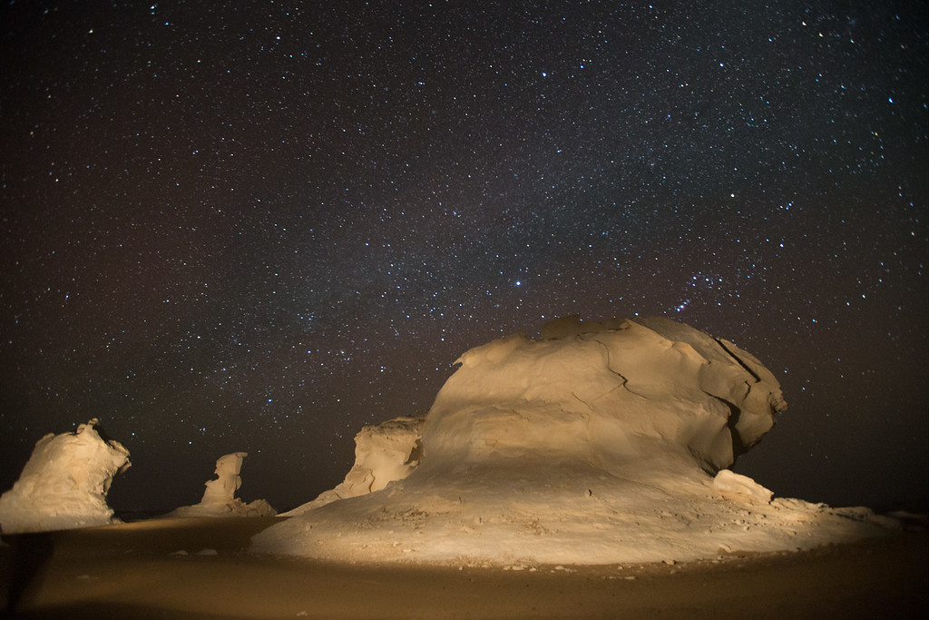 White Desert by night
