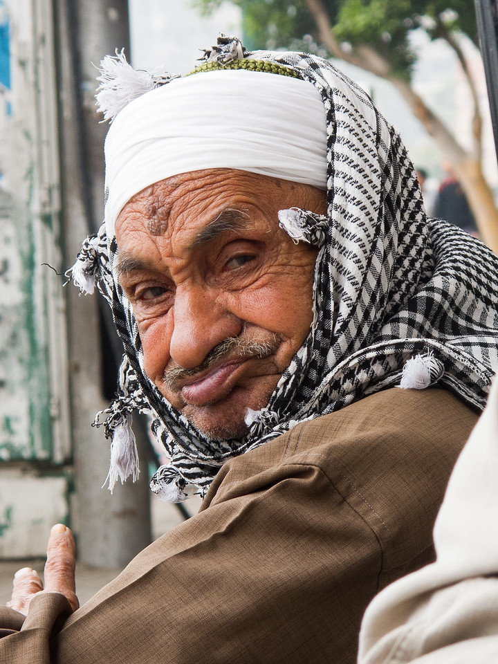 Old man at Tahrir Square, Cairo