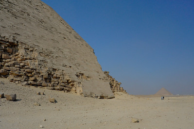 Renee and Nona at the Bent Pyramid (the Red Pyramid is in the background)