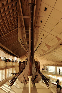 "Khufu's ""Solar Boat"" or ""Solar Barge"" believed to be a ritual vessel to carry the resurrected king with the sun god Ra across the heavens. 143 feet long and 19.5 feet wide. _D7C7967"
