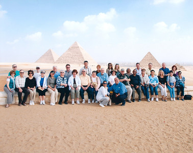 Tauck Tour Group at Giza Plateau-3
