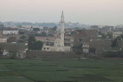 A mosque to the west.