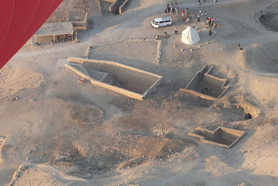 A new excavation and workers.