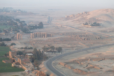 A view of the Temple of  Ramesseum.  It was functioning when Luxor was called Thebes.