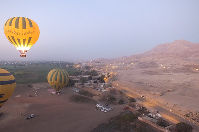 Left to right: Nile Valley, Valley of the Nobles.   Foreground; Balloon landing area