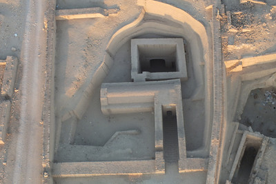 A recently excavated tomb.