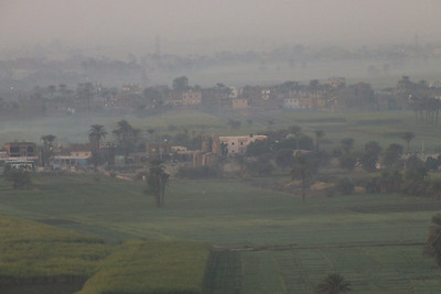 Colossi of Memnon in the Nile Valley