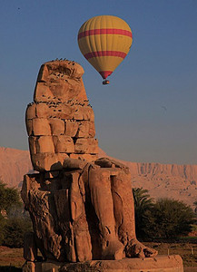 The Colossi of Memnon  from the ground.