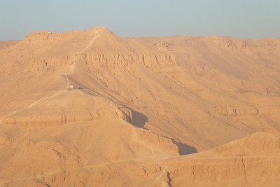 Overlooking the Valley of the Kings is the tiny security building.