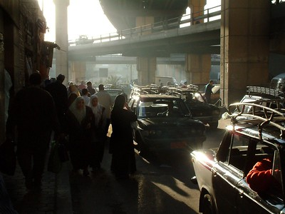 This is typical Cairo traffic: incessant and smelly.