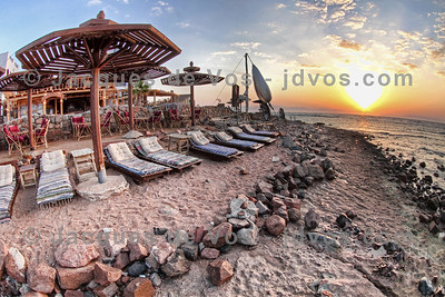 Sunrise Over Light House  Dahab - Egypt