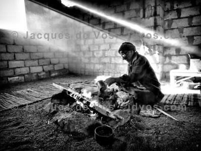 Old Bedouin Making Tea - Sinai Desert
