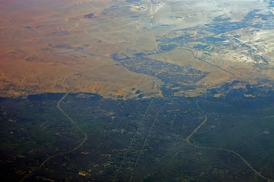 Cairo and if you have good eyes you can spot the pyramids right in the center of the picture