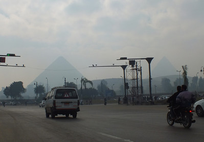 Giza just across the Nile from Cairo.  Just down from our hotel where you could easily see the Giza Pyramids