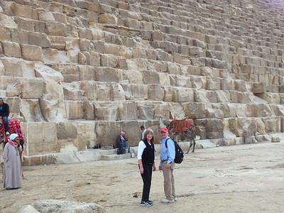 At the Giza Pyramid of Cheops