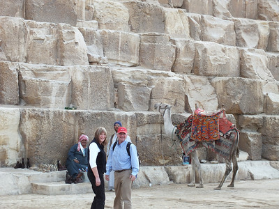 At the Giza Pyramid of Cheops
