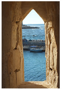 Qaitbay Citadel looking through a canon hole