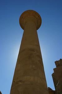 A pillar at Luxor.