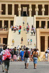 The Queen Hatshepsut temple.  Another architectural marvel set against the backdrop of a cliff.