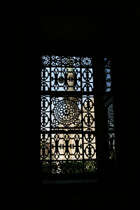 One of the windows in the mosque