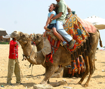 This is no pony!  Anisa was a little surprised at how different a camel was from the horse riding she is used to.