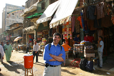 a typical bazaar in Egypt.