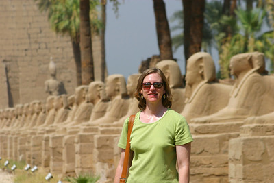 The avenue of the sphinxes that linked the Luxor temple to Karnak.