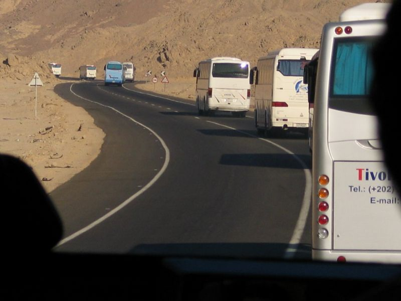 At 6 AM we started to Luxor in a caravan of about 50 buses with an armed escort.