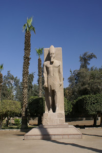 In Memphis - Ramses II statue